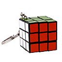 Cubes Magiques IQ Cube Trois couches Avec une Chaîne de clé Cube de vitesse lisse Magic Cube Puzzle Noir Plastique