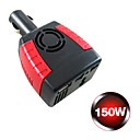 Power Inverter DC to AC Car Charger for Laptops (150W, 12V-240V)