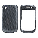 Grid Pattern Back Case and Bumper Frame for Blackberry 8520/9300 (Black)