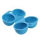 caja de almacenamiento de transportador de huevos excursionista (2 count / color al azar)