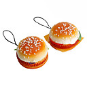 Soft Hamburger Shaped Keychain (Random Colors)