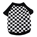 Football Plaid Cotton T-Shirt for Dogs (XS-M)