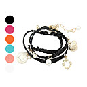 Fashion Multi-Element Pendant Weave Bracelet