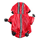 Hot Sale! Hooded Raincoat for Dogs (XS/S/M/L/XL,Black,Red)
