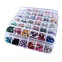 6 Box Nail Art Decoration strass