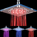 8-tommers 12-LED akryl tak Shower Head (Assorterte farger)
