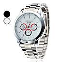 mænds business stil sølv legering quartz armbåndsur (assorterede farver)