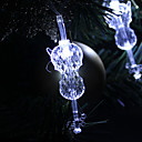 1.5M 10-LED Guitar Shaped White Light String Fairy Lampe til jul (3xAA)
