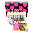 Nail Art Print Farveudskrivning Stempel polsk Machine Combination Kit Et sæt (M)