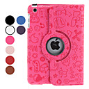 Cartoon PU Leather Case w/ Rotating and Stand for iPad mini 3, iPad mini 2, iPad mini (Assorted Colors)