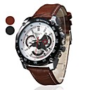 mannen rennen ontwerp wijzerplaat pu lederen band quartz horloge (verschillende kleuren)