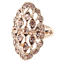 Oval Champagne Zircon ring