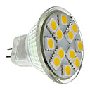 GU4(MR11) 1.5W 12 SMD 5050 160 LM Warm wit MR11 LED-spotlampen DC 12 V