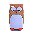 Silicon Cartoon Owl Pattern Soft Case for iPhone 4/4S