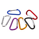 Small D Shaped Aluminum Alloy Carabiner(Assorted Colors)