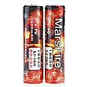MarsFire 18650 Protected 3.7V 2600mAh Rechargeable Li-ion Batteries (2-Pack)