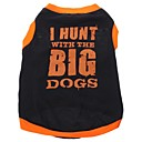 Hunting Dog Style Vest for Dogs (Black,XS-L)