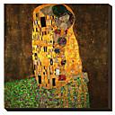 El beso de Gustav Klimt famoso lienzo envuelto para galerías