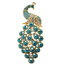 Women's  Blue Peacock Brooch