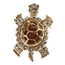 Women's  Turtle Shaped Diamond Brooch