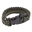 Para-Cord Survival Bracelet med Plastic Connection Buckle C (5 farger)