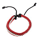 Double Color Woven Leather Bracelet