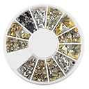 YeManNvYou®240PCS Nail Art Golden Mixed Rivet Shapes Acrylic Rhinestone(Random Color)