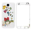 Little Girl Pattern Front og Back Case for Samsung Galaxy S4 I9500