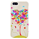 Butterfly Tree Pattern Hard Case with droplet for iPhone 5/5S