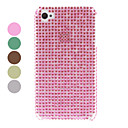 Solid Color Rhinestone Hard Case for iPhone 4/4S (Assorted Colors)