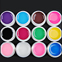 12-Color Transparent Glaze UV Gel