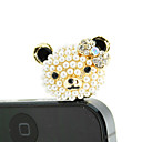 Kullattu Alloy Zircon Bear Pattern Anti-pöly Plug (Random Colors)