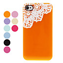 Protective Back Case with Pearl and Lace for iPhone 4/4S (Assorted Colors)