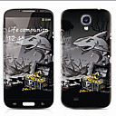 White Shark Pattern Front and Back Protector Stickers for Samsung Galaxy S4 I9500