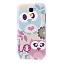 Mate Estilo Amor diseño de la historieta del patrón del caso duro durable Owl para Samsung Galaxy S4 Mini I9190