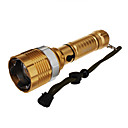UniqueFire UF-V26 Rechargeable 3-Mode Cree XML-T6 Zoom LED Flashlight(1000LM, 1x18650/3xAAA, Gold)