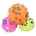 Dog Paws patrón sensorial Rubber Ball Toy chirrido de Mascotas Dogs (colores surtidos)