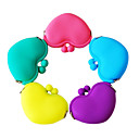 Candy Color Heart Shaped Silicone Change Purses(Assorted Colors)