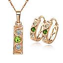 Buy 18K Gold Diamond Crystal Earrings & Necklace Fashion Set