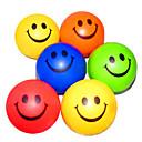 Happy Face Gemusterte Stressabbau Rubber Balls (zufällige Farbe)