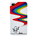 Afvigelser Magic Drawing Pen Mønster PC Hard Case for iPhone 4/4S