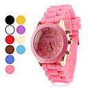 Kvinnors och barns Silikon Analog Quartz Wrist Watch (blandade färger)