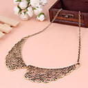 Buy Palace carved hollow metallic sweater chain necklace fake collar collar(random color)