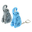 ABS Elephant Shaped Keychain with LED & Voice (Random Color)