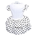 Elegant Dots Pattern Wedding Dress with Lace for Pets Dogs (Assorted Sizes)