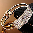 Elegant Crystal Bangle Bracelet (assortert farge)