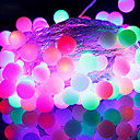 52-LED 9M Vattentät EU Plug Outdoor Christmas Holiday dekoration RGB Ljus LED String Light (220V)