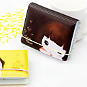 32 Slots Cartoon Girl Pattern Credit Card Holder (Random Color)
