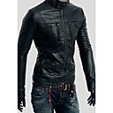 UOMO collare del basamento astuto Leather Jacket
