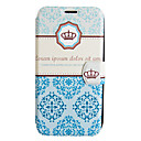 Crown Porcelain Leather Case with Stand for Samsung Galaxy S4 I9500